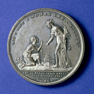 Medal commemorating the Abolition of Slavery in the UK