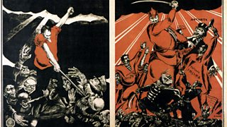 d5ee527a4 Propaganda poster from 1917. Russian Revolution propaganda poster. Animal  Farm ...