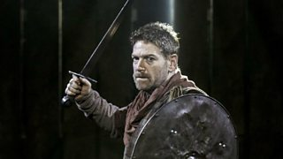 Macbeth goes into battle against Macduff