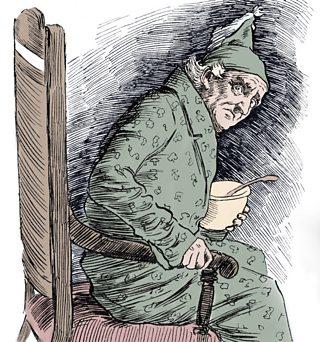 Scrooge is visited by Marley
