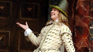 Josie Lawrence as Benedick in all-female performance of Much Ado About Nothing