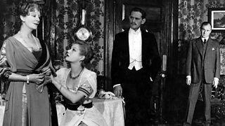 Photo from British premiere of An Inspector Calls. Mrs Birling reveals how she knew Eva Smith (1946))