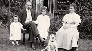An early photograph of an Edwardian family