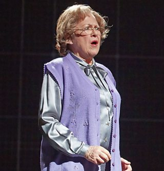 Photo from a stage production of Curious Incident of the Dog in the Night-Time of Mrs Alexander