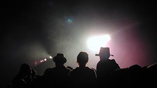 Audience members at a music festival