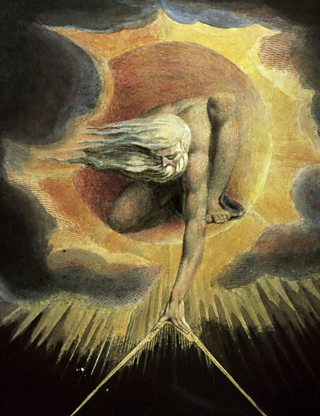 'The Ancient of Days' painting by William Blake.