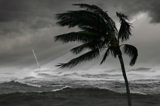 A stormy sea scene