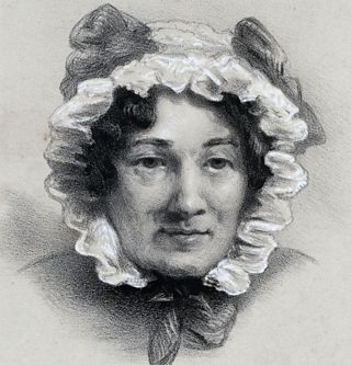 A drawing of Mary Lamb