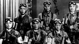 Japanese kamikaze pilots during World War Two