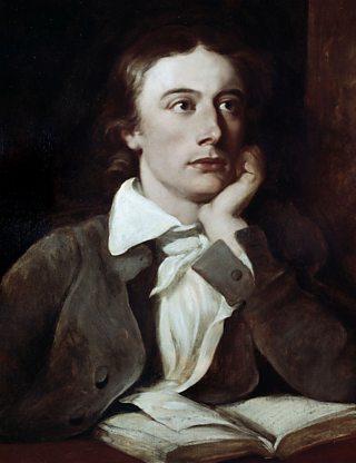 A portait of poet, John Keats
