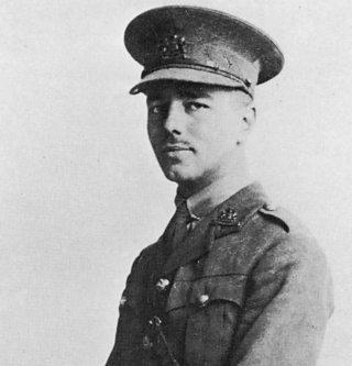 Poet, Wilfred Owen in soldier uniform