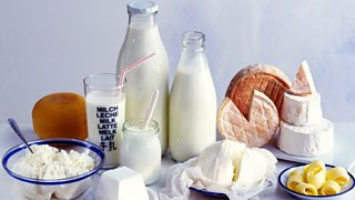 Milk, cheeses and butter