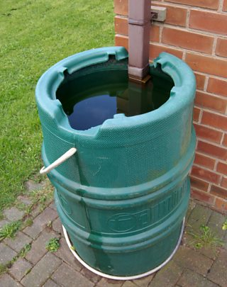 A water butt for collecting rainwater