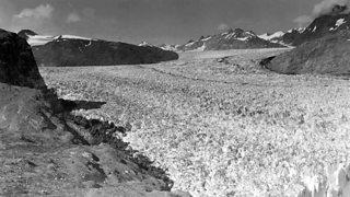 A photo of Muir glacier, Alaska, in 1941