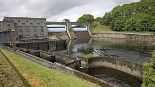 The hydroelectric power station at Pitlochry, Scotland