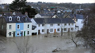 The River Derwent flooded homes in 2009