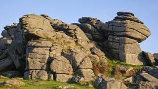 Granite rock at Hound Tor, Dartmoor