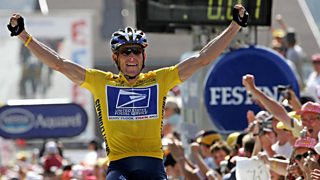 Disgraced cyclist Lance Armstrong, pictured winning the Tour de France in 2004
