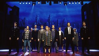 The cast of Blood Brothers on stage