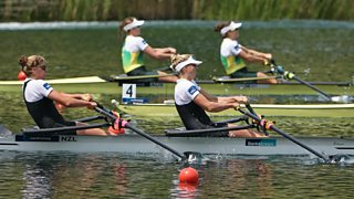 Female Rowers In Action