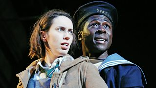 Kate O'Flynn (Helen) and Eric Kofi Abrefa (Jimmie) at the Lyttelton, National Theatre, London, UK, 17 February 2014
