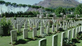Graves at Monte Cassino in Italy