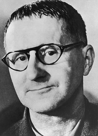 The German playright, poet and theatre director and Bertolt Brecht