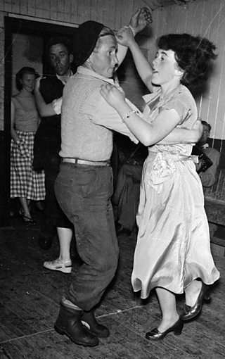 A couple dancing at a crofter's ceilidh