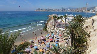 Benidorm, Spain is a popular tourist destination