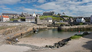 Portsoy on the the North Aberdeenshire Coast similar to the fictional town of Monimaskit