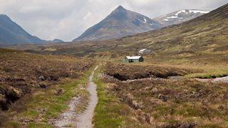 Path on Ben Alder Estate in the Scottish Highlands