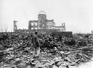 Photo which shows the damage caused by the atom bomb attack on Hiroshima on 8th August 1945.