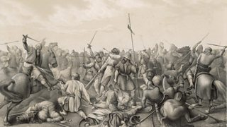 Illustration depicting the Battle of Stamford Bridge