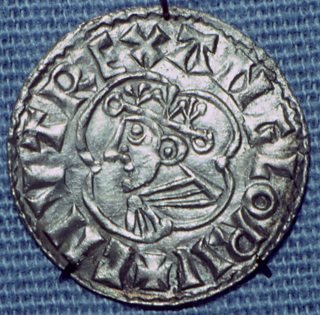 Photo of a silver penny of King Cnut (990-1035)