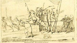 Cartoon depicting the Battle of Ushant