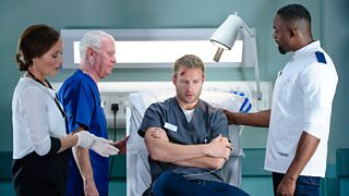 A scene from BBC hospital drama Casualty