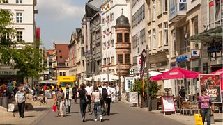 Shopping avenue, Leipzig, Germany
