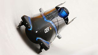 Men's Two-Man Bobsleigh training session