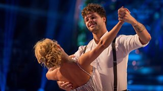 Jay and Aliona performing on Strictly Come Dancing