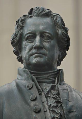 A statue of German philosopher Johann Wolfgang von Goethe