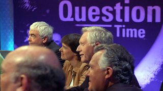 Photograph of the Question Time panel