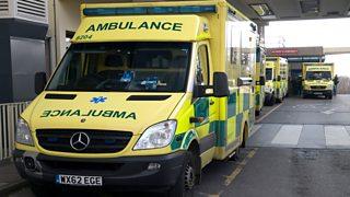 Photograph of an ambulance
