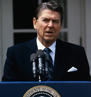Ronald Reagan, former president of the USA