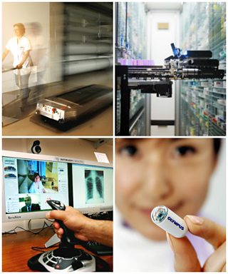 Medical technology collage