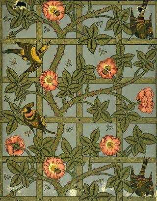 Trellis, William Morris, 1864, wallpaper design, V&A Images / Alamy Stock Photo