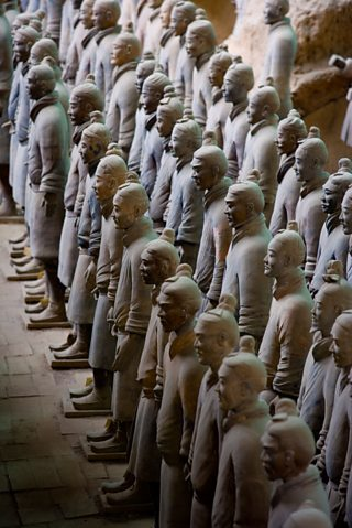 Terracotta Army, China, 246-210 BC, clay, Best View Stock / Alamy Stock Photo