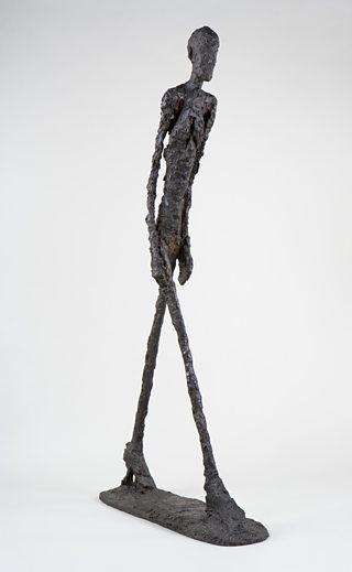 Walking Man I, Alberto Giacometti, 1960, bronze