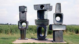 Three Figures from The Family of Man, Barbara Hepworth, c.1970, bronze