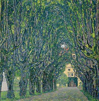Avenue in Schloss Kammer Park, Gustav Klimt, 1912, oil in canvas, Heritage Image Partnership Ltd / Alamy Stock Photo