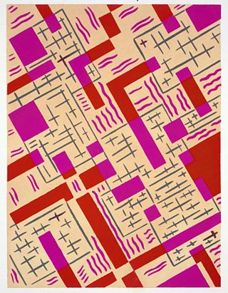 Design from Nouvelles Compositions Decoratives, Serge Gladky, late 1920s, pochoir print